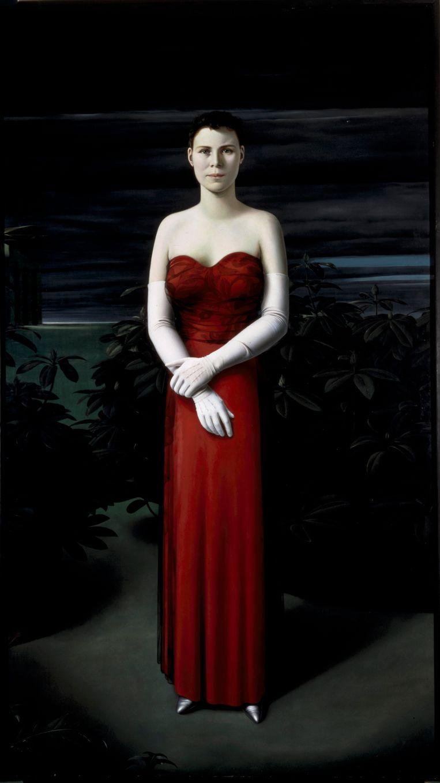 'Vrouwenportret', een portret van zijn vrouw Heddy de Geer, uit 1940. Beeld scan van dia 4x5 inch