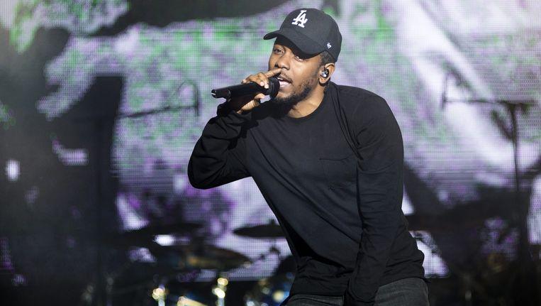 Kendrick Lamar op Les Ardentes: een feestje, maar een ingewikkelder discours werd niet gehouden. Beeld alex vanhee