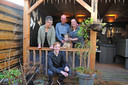 Kees , Diana, dochter Nicky en zoon Sander Loman. Elk heeft een verhaal over het afgelopen coronajaar.