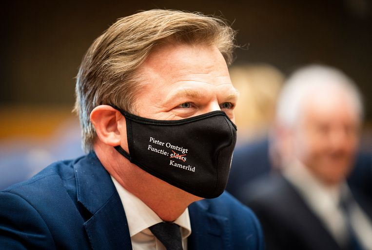 Pieter Omtzigt bij zijn beëdiging als Kamerlid, eind maart. Beeld Freek van den Bergh / de Volkskrant