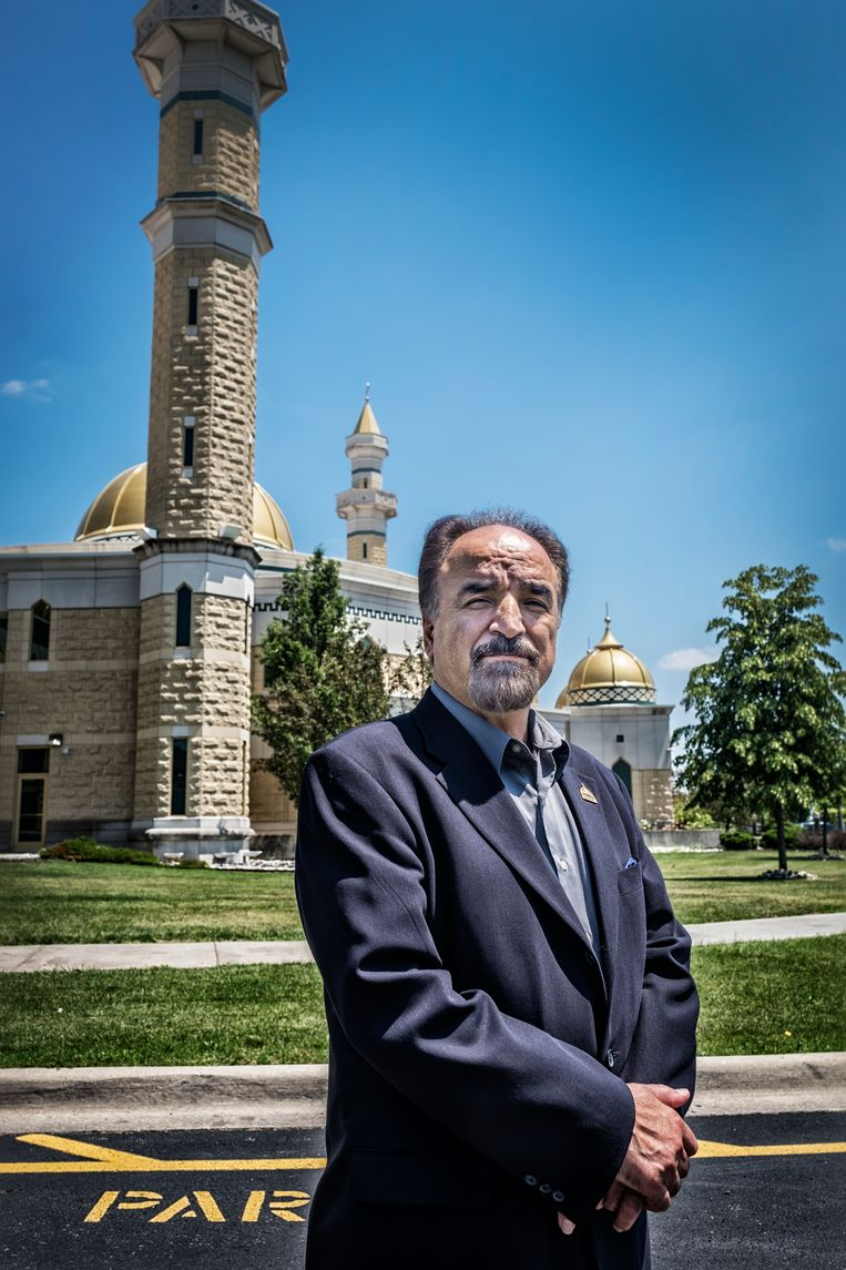Kassem Allie, de directeur van de Grote Moskee in Dearborn.  Beeld Tim Dirven