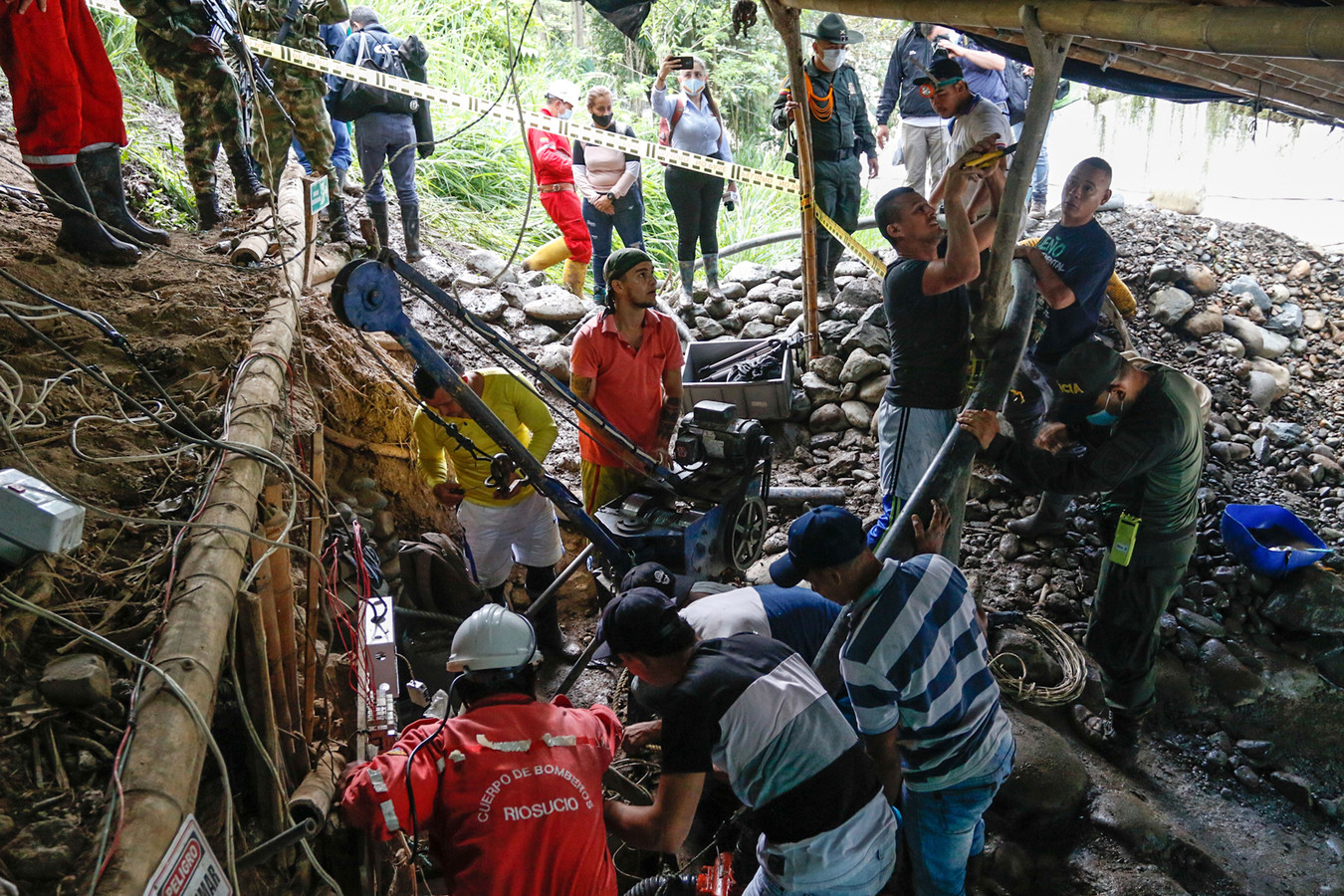 De zoektocht naar de vermiste mijnwerkers.