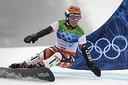 Nicolien Sauerbreij in actie op de Olympische Spelen van 2010 in Canada. Nu begeleidt ze Youri Zorge (15) uit Woensdrecht om ook zijn olympische droom waar te maken.