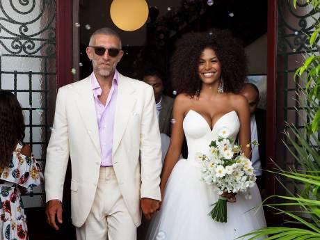 Tina Kunakey dévoile des photos de son mariage avec Vincent Cassel