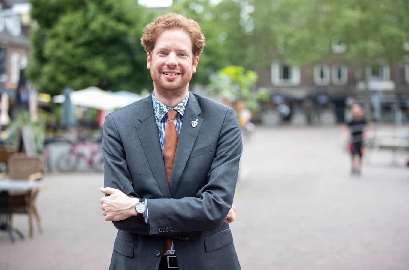 Floor Vermeulen, de trotse burgemeester van Wageningen.