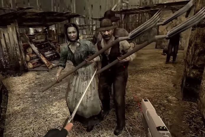 In vr komen die bezeten 'Ganado'-boeren uit 'Resident Evil 4' je nog dichter op de huid dan destijds op de console.