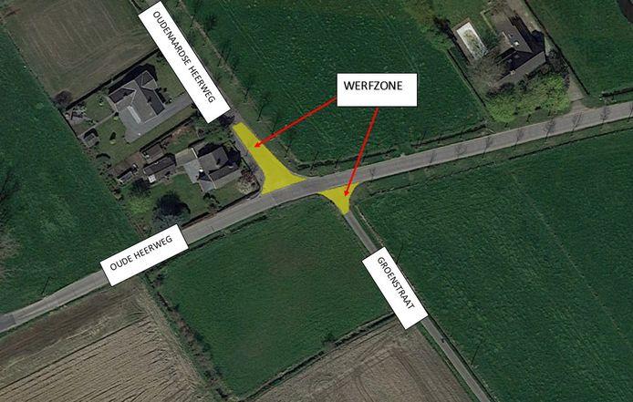 Heraanleg kruispunt Oudenaardse heerweg