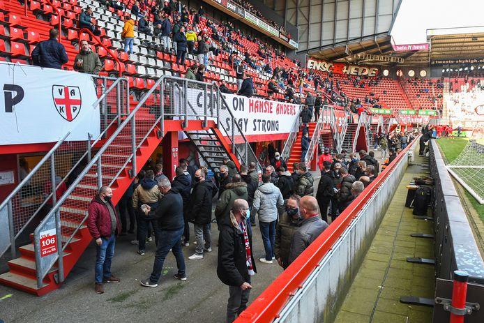 Voor het eerst sinds een lange tijd mogen er ook weer fans in De Grolsch Veste.