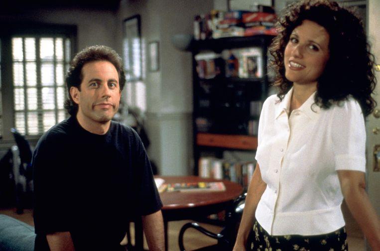 Jerry Seinfeld & Julia Louis-Dreyfus in Seinfeld Beeld Humo