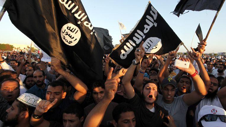 Archieffoto van aanhangers van Ansar al-Sharia. Beeld AP