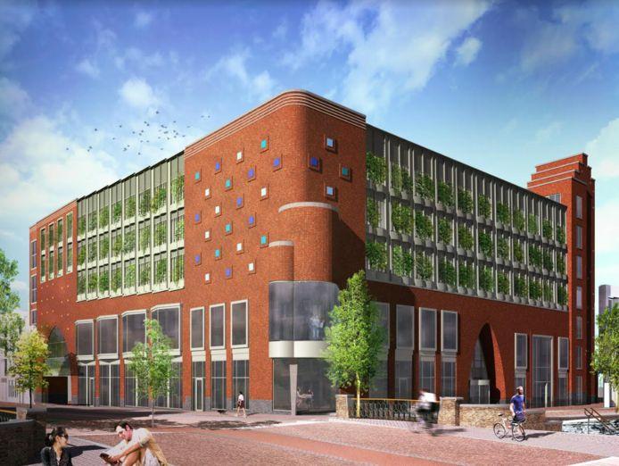 Het ontwerp van de nieuwe bibliotheek in het stadshart van Alphen, van architectenbureau Common Affairs.