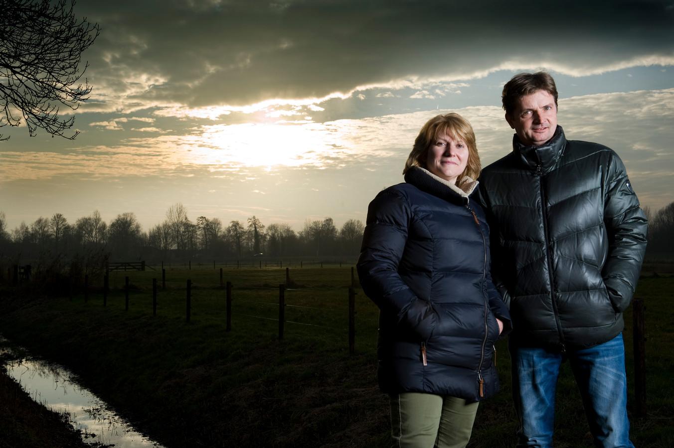 Partijbestuurder Astrid de Groot, samen met haar man en organisator Wim.