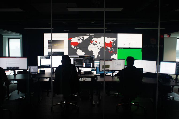 Bij Northwave, een cybersecuritybedrijf in Utrecht. Beeld Jeroen de Bakker