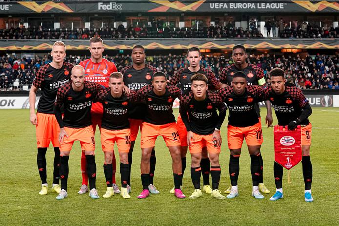 PSV voor het uitduel met Rosenborg van eerder deze maand.