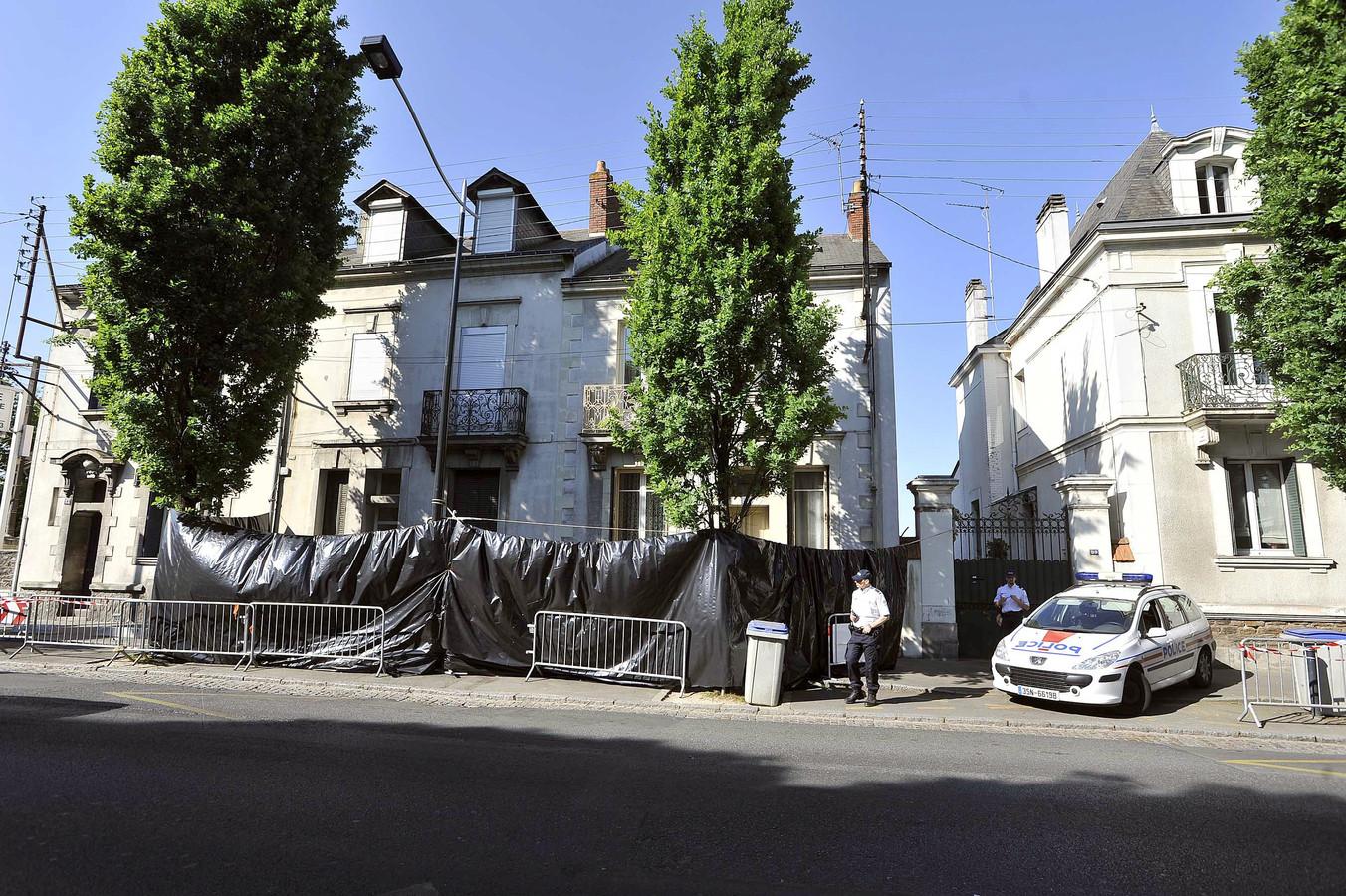 La maison familiale, à Nantes, où les cinq corps ont été retrouvés.