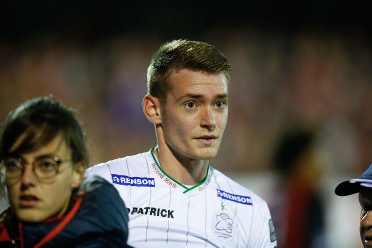 Sander Coopman verlaat het veld in Luik. Beeld belga