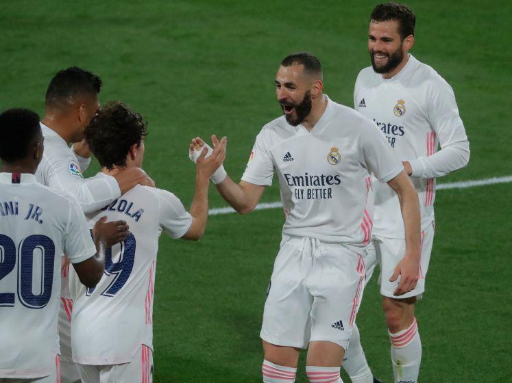 Real dankzij uitblinker Benzema in punten naast Atlético