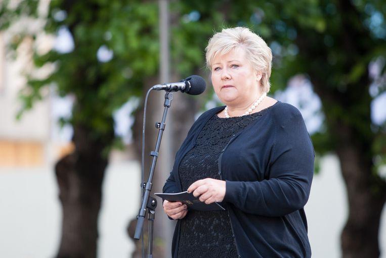 De Noorse premier Erna Solberg. Beeld AP