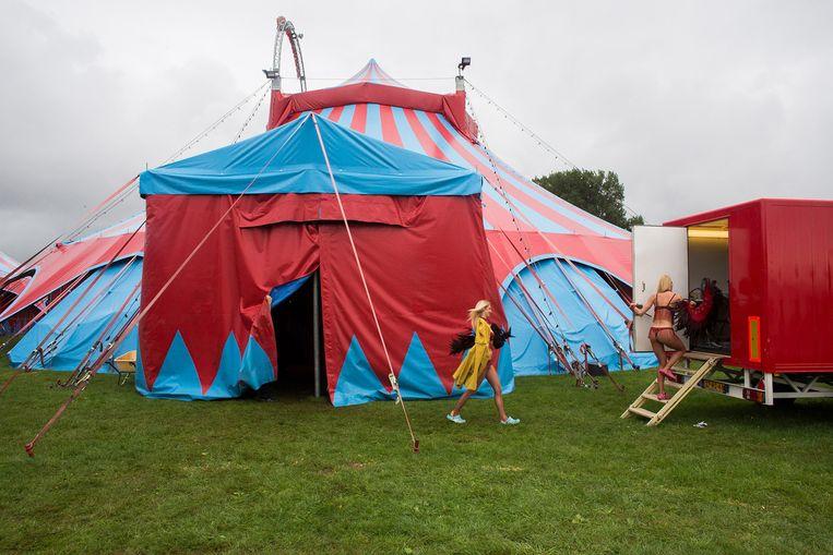 Circus Herman Renz in Bergen op Zoom. Het circus dreigt failliet te gaan. Beeld Ton Koene