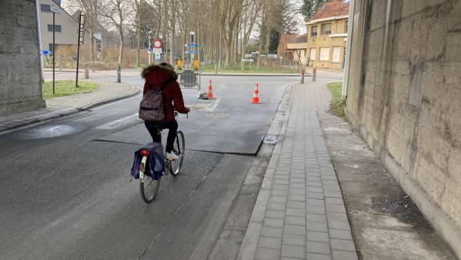 Nijverheidstraat nog minstens anderhalve maand onderbroken door verzakking riool