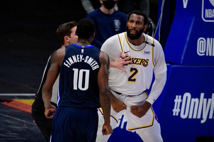 Andre Drummond in het shirt van de Lakers.