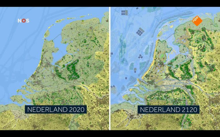 Een visie op Nederland in 2120 van de Wageningen Universiteit.  Beeld