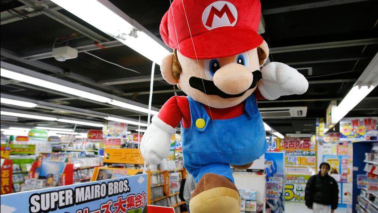 Een Mariopop in een winkel in Tokio.