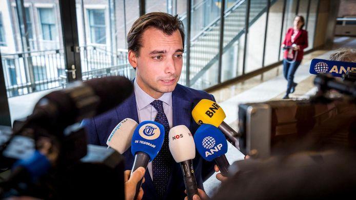Thierry Baudet in de Tweede Kamer.