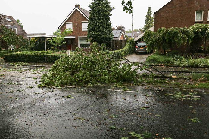 Her resultaat van noodweer in Asten.