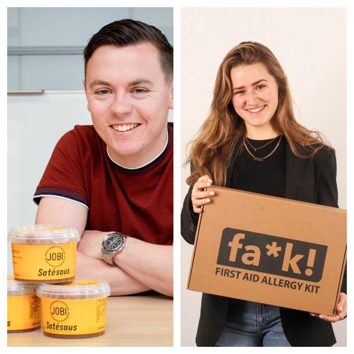Jos Bos (25) van Jobi Satésaus en Yara Verschuren (22) van FA*K! First Aid Allergy Kit.