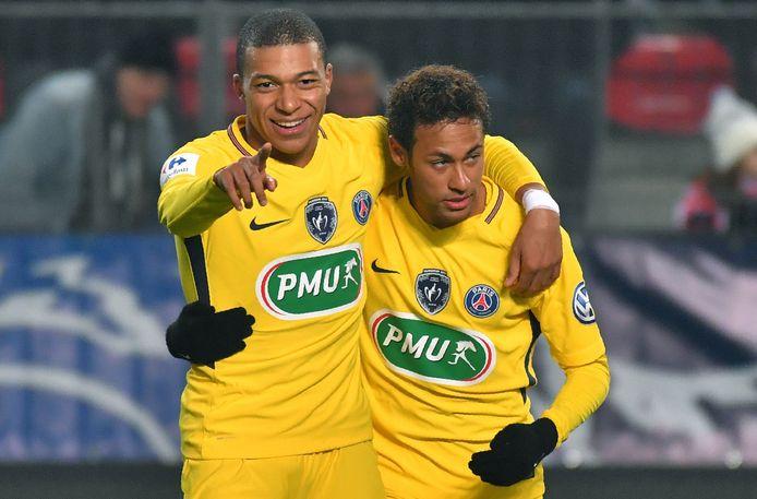 Kylian Mbappé et Neymar.