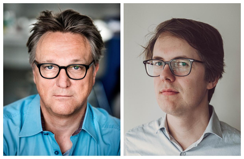 Joël De Ceulaer en Maarten Boudry. Beeld DM