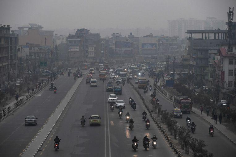 Smog in Kathmandu, Nepal.  Beeld AFP