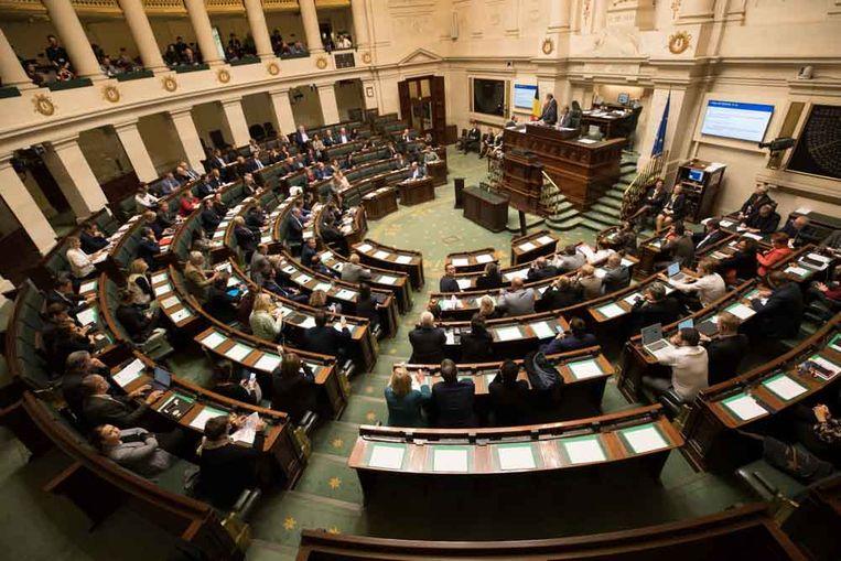 Een plenaire zitting in de Kamer. Beeld BELGA