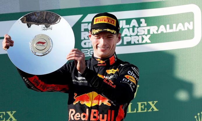 Max Verstappen eindigde bij de laatste GP op Melbourne als derde.