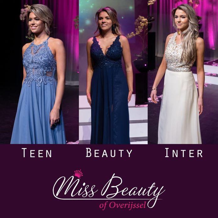 De winnaressen van Miss Beauty Overijssel