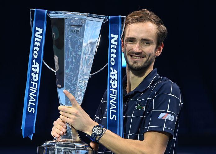 Daniil Medvedev uit Rusland is de won de laatste ATP-Final in Londen.
