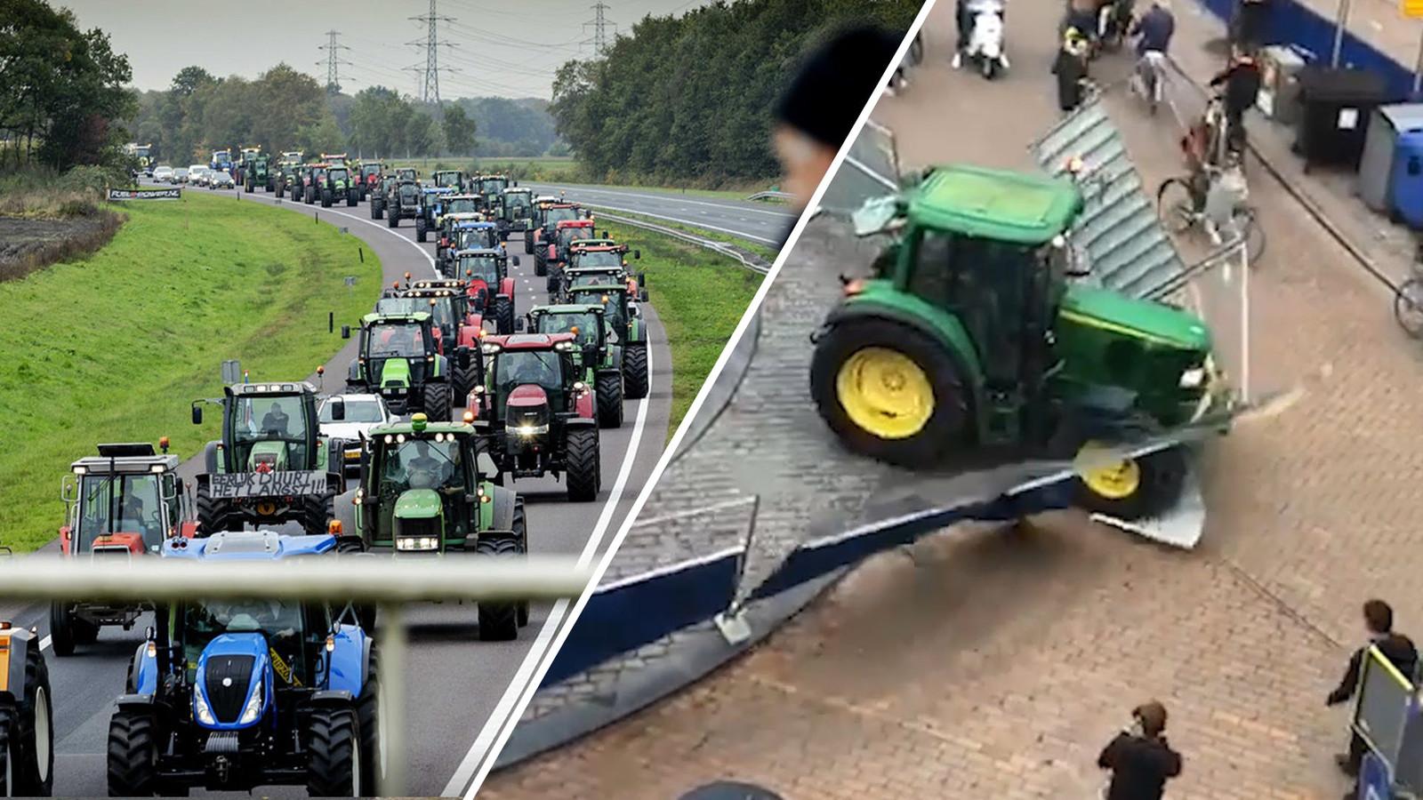 Geweld tijdens bij het boerenprotest in Groningen.