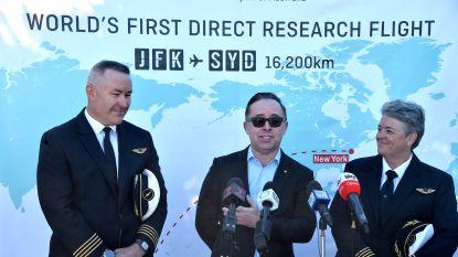 19 uur en 16 minuten: zo lang duurde de eerste rechtstreekse vlucht van New York naar Sydney