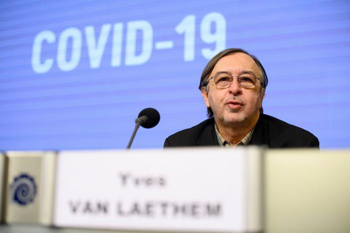 L'infectiologue et porte-parole Covid-19, Yves Van Laethem.
