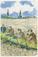 Johnny van Voren: Schafttijd voor de landarbeiders, in het boek 'Tussen water en wind'.