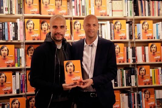 Pep Guardiola en Jordi Cruijff