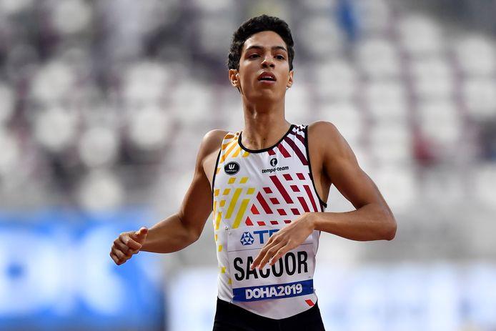 Jonathan Sacoor in actie in Doha.