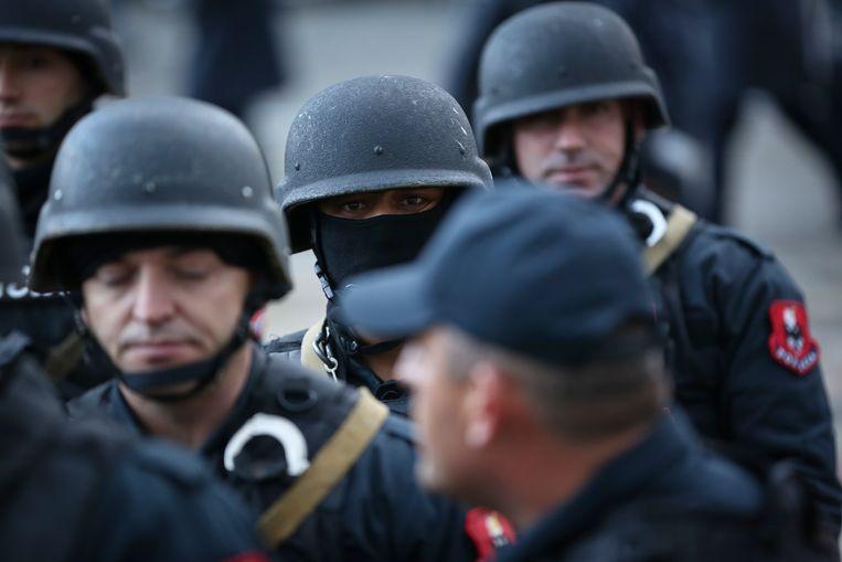 Albanese politieagenten (archiefbeeld). Beeld AP