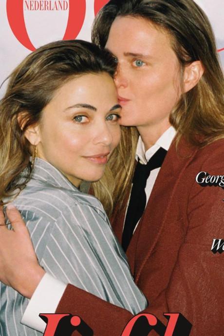Georgina Verbaan viert zoenend de liefde: 'Als dit iemand helpt, ben ik blij'