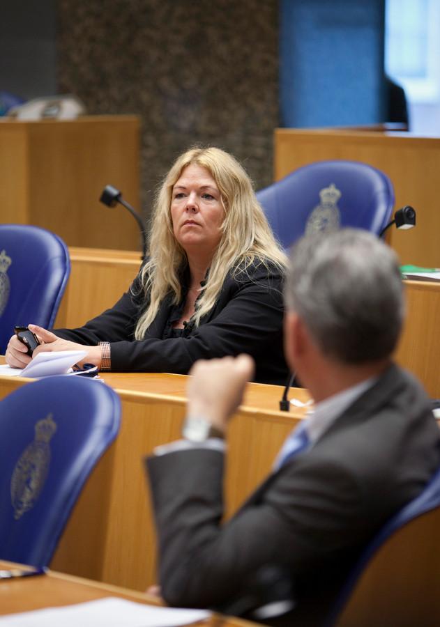 PVV Tweede Kamerlid Willie Dille in de Tweede Kamer.