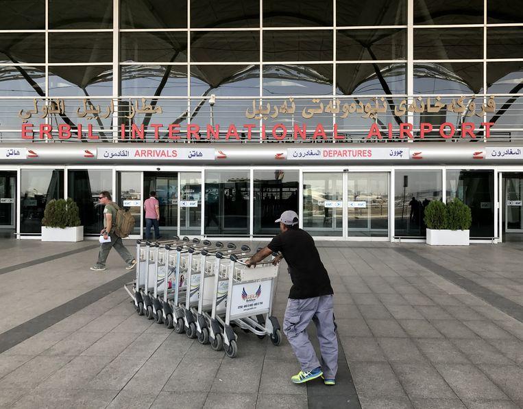 Erbil International Airport in Irak. Beeld Getty Images