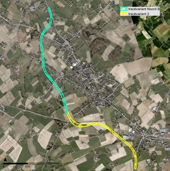Het tracé ligt ten westen van de Lange Winterstraat en loopt via een brug over de spoorlijn Kortrijk-Oudenaarde, waarna het de spoorlijn volgt en vervolgens afbuigt richting de Bevrijdingslaan.