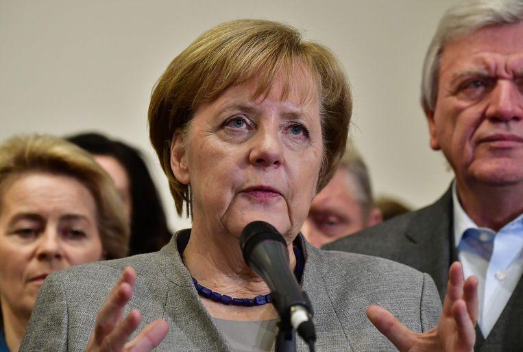Bondskanselier Angela Merkel (CDU). Beeld AFP