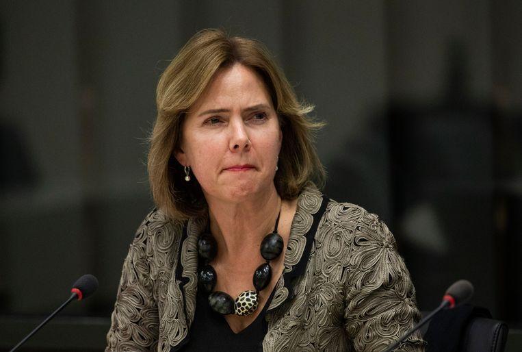 Minister Cora van Nieuwenhuizen van Infrastructuur en Waterstaat (VVD) tijdens het debat over de Stint. Beeld Freek van den Bergh